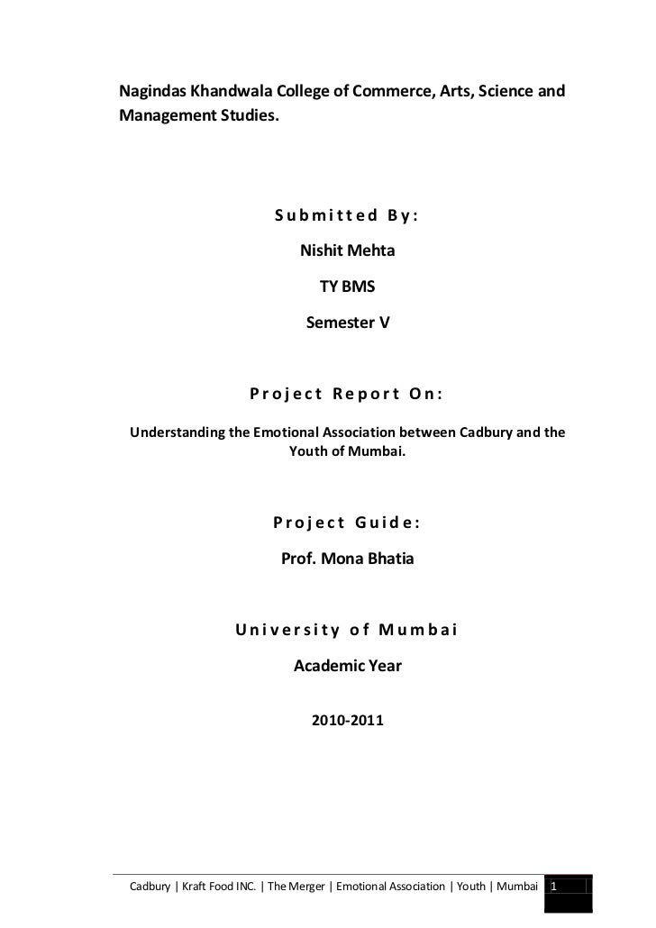 Nagindas Khandwala College of Commerce, Arts, Science andManagement Studies.                             Submitted By:    ...