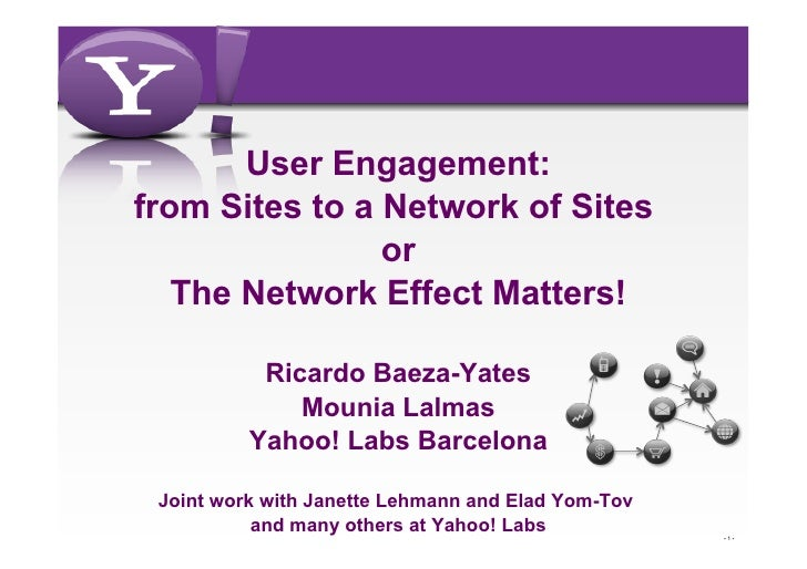 User Engagement:from Sites to a Network of Sites                or   The Network Effect Matters!           Ricardo Baeza-Y...