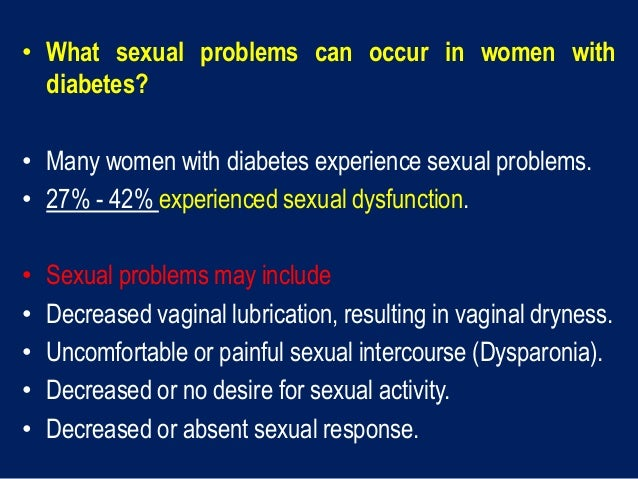 Sexual problems in men with diabetes