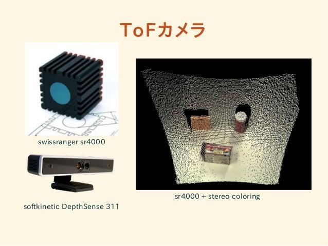 ToFカメラ  swissranger sr4000  softkinetic DepthSense 311  sr4000 + stereo coloring