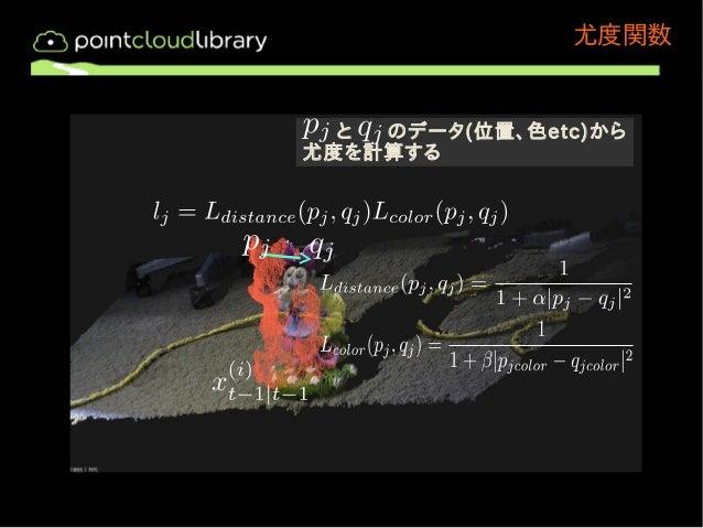 尤度関数  と のデータ(位置、色etc)から  尤度を計算する