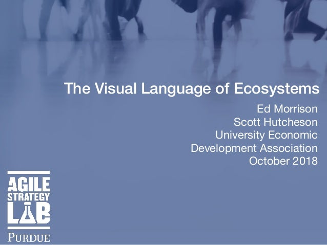 The Visual Language of Ecosystems Ed Morrison  Scott Hutcheson   University Economic Development Association   October 2018