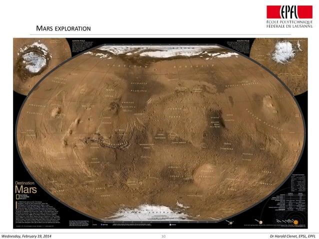 MARS EXPLORATION  Wednesday, February 19, 2014  10  Dr Harold Clenet, EPSL, EPFL
