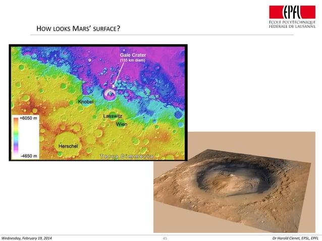 HOW LOOKS MARS' SURFACE?  Wednesday, February 19, 2014  45  Dr Harold Clenet, EPSL, EPFL