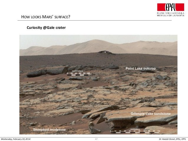 HOW LOOKS MARS' SURFACE? Curiosity @Gale crater  Wednesday, February 19, 2014  47  Dr Harold Clenet, EPSL, EPFL