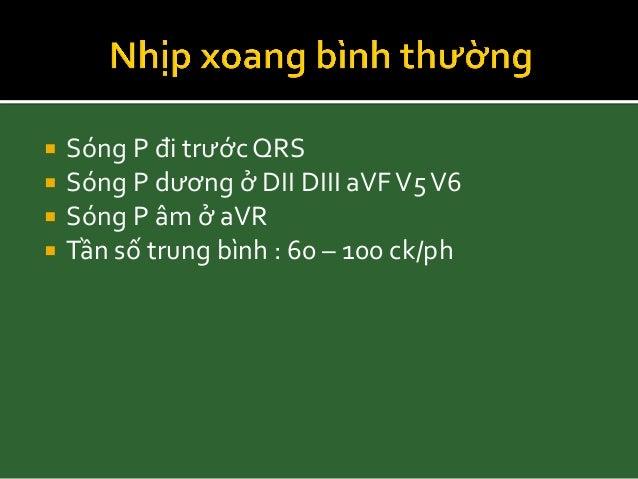 Nhịp xoang Tần số: < 60 ck/ph Đều hoặc không đều Nhịp thoát Bradyarrhythmias, Braunwald's heart disease