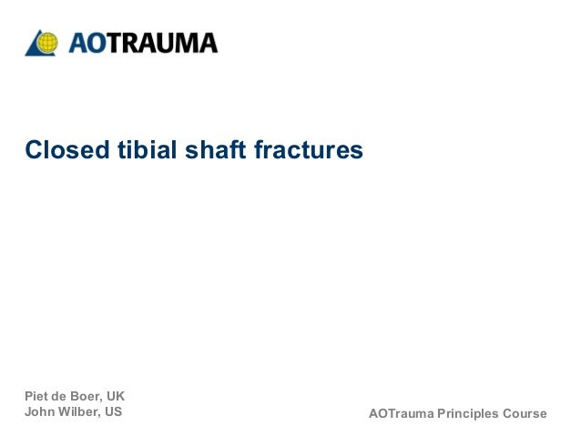 Closed tibial shaft