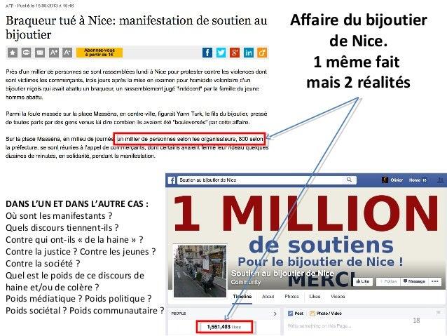 Affaire du bijoutier de Nice. 1 même fait mais 2 réalités DANS L'UN ET DANS L'AUTRE CAS : Où sont les manifestants ? Quels...