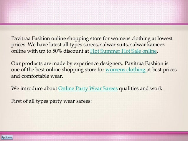 Womens clothing Online Sarees, Salwar suits - Hot Summer Hot Sale - Pavitraa.in
