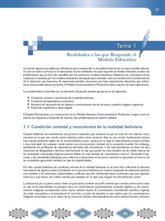 11  Tema 1  Realidades a las que Responde el  Modelo Educativo  Un primer aspecto que debemos reflexionar, para comprender...