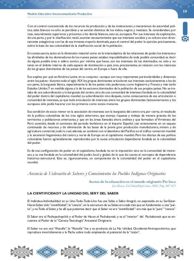 19  Con el control concentrado de los recursos de producción y de las instituciones y mecanismos de autoridad polí-tica,  ...