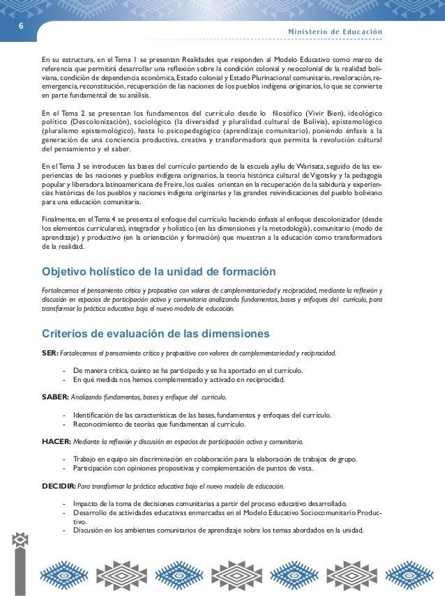 6  En su estructura, en el Tema 1 se presentan Realidades que responden al Modelo Educativo como marco de  referencia que ...