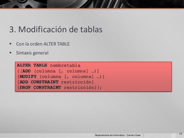 Sql ddl dml y sql - Alter table drop constraint ...
