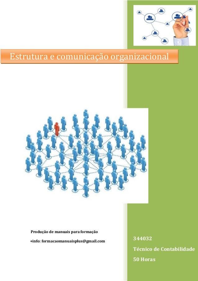 344032 Técnico de Contabilidade 50 Horas Produção de manuais para formação +info: formacaomanuaisplus@gmail.com Estrutura ...