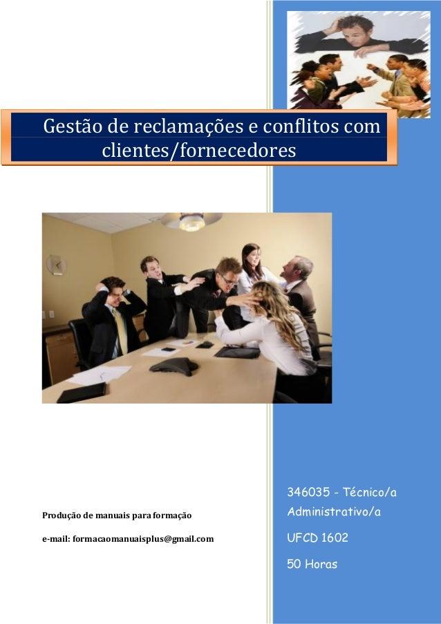 346035 - Técnico/a Administrativo/a  UFCD 1602  50 Horas  Produção de manuais para formação  e-mail: formacaomanuaisplus@g...
