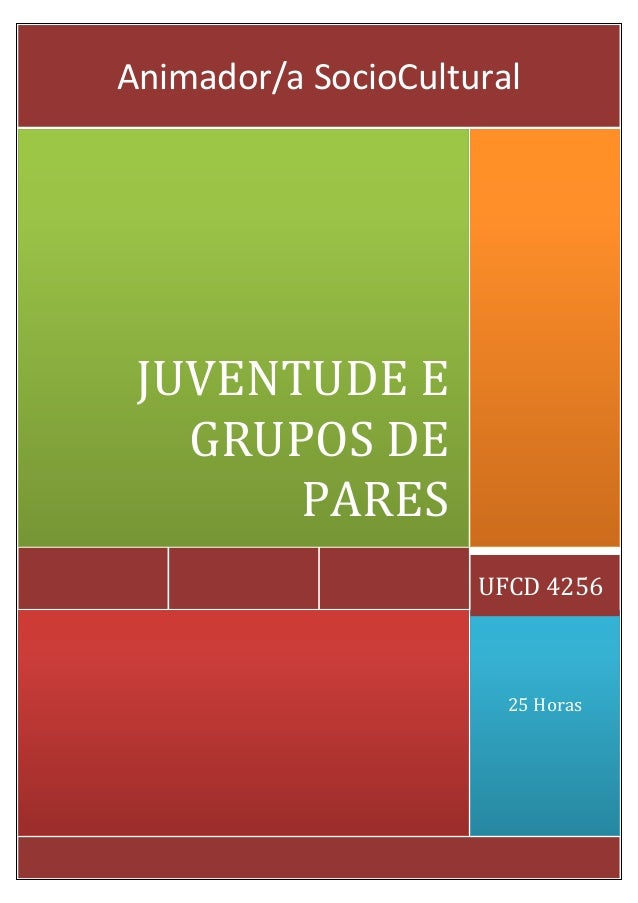 25 Horas UFCD 4256 JUVENTUDE E GRUPOS DE PARES Animador/a SocioCultural