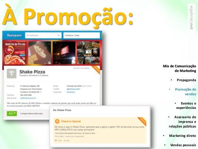 À Promoção: Mix de Comunicação de Marketing • Propaganda • Promoção de vendas • Eventos e experiências • Assessoria de imp...