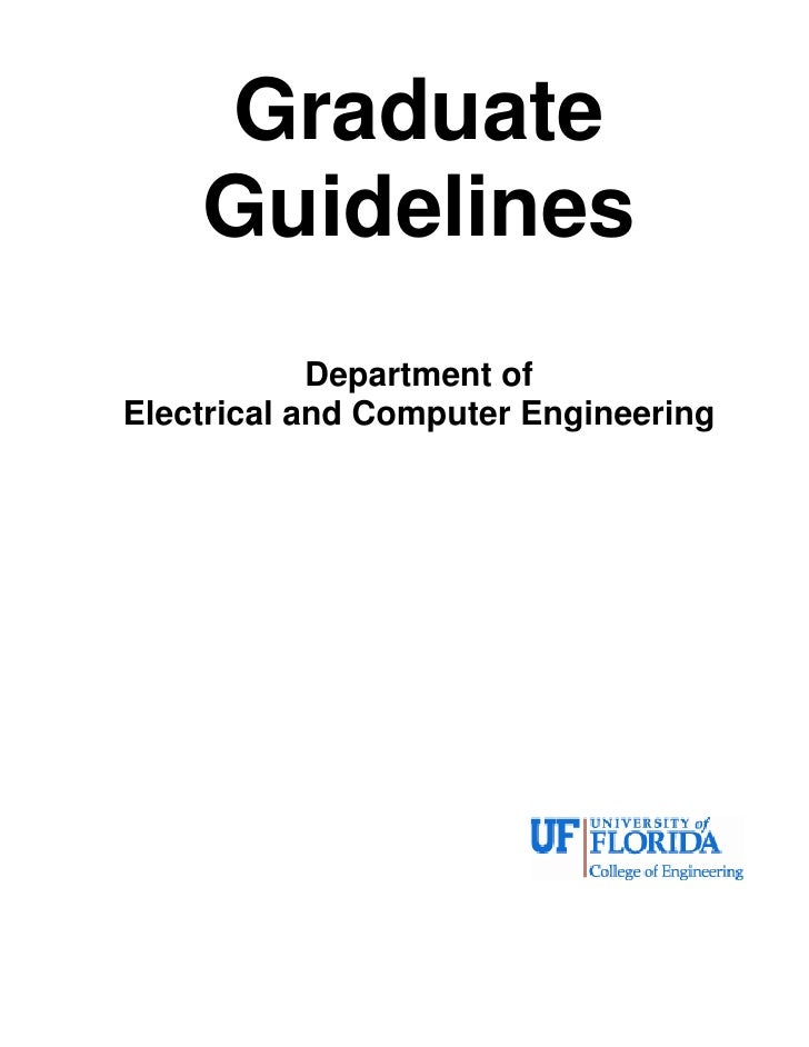 Graduate    Guidelines            Department ofElectrical and Computer Engineering