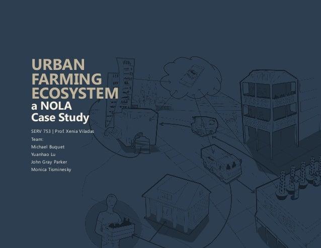 URBAN FARMING ECOSYSTEM a NOLA Case Study SERV 753 | Prof. Xenia Viladas Team: Michael Buquet Yuanhao Lu John Gray Parker ...