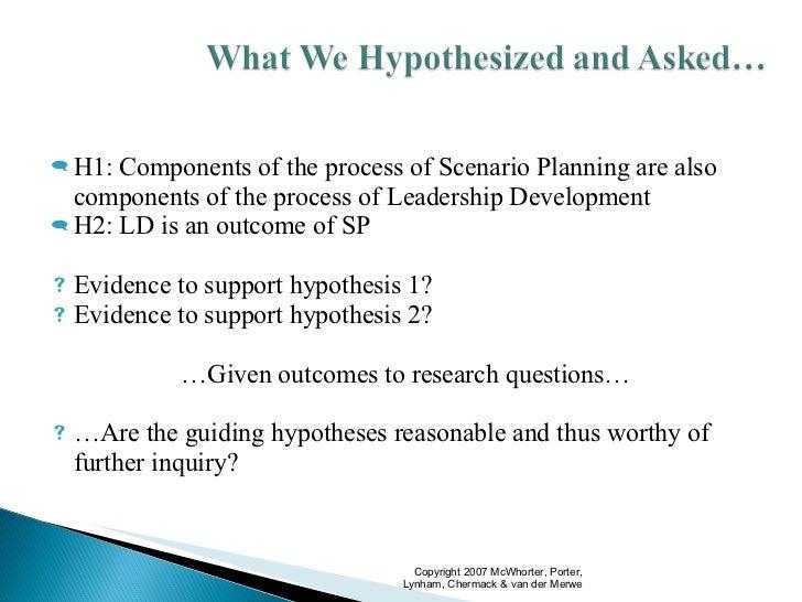 Scenario Planning as the Development of Leadership Slide 2