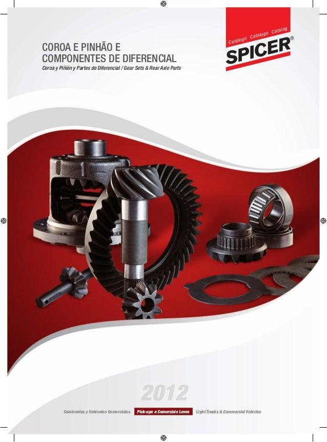 COROA E PINHÃO E COMPONENTES DE DIFERENCIAL Coroa y Piñión y Partes de Diferencial / Gear Sets & Rear Axle Parts Camioneta...