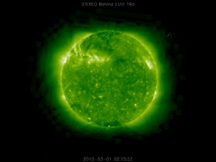 Ufo On The Sun Fron Stereo Behind Euvi 195   2010