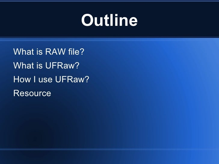 Edit Raw image in Linux with UFRaw