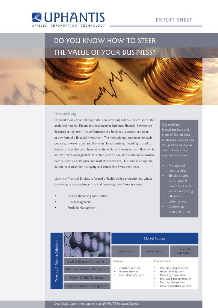 e XP ert SH eet    Do You Know How to Steer tHe Value of Your BuSineSS?     Data Modeling Essential to any financial based...