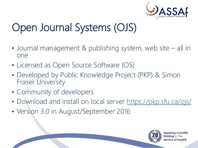 Online Journal Management using Open Journal Systems (OJS)