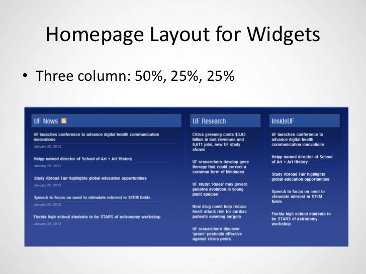 Homepage Layout For Widgetso Three Column 50 25