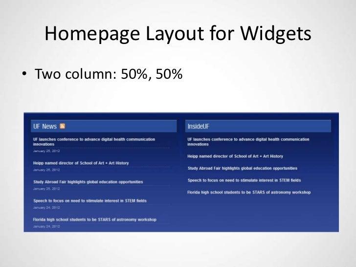 UF WordPress Template Presentation