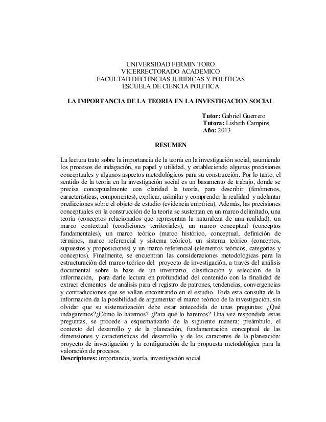 UNIVERSIDAD FERMIN TORO                    VICERRECTORADO ACADEMICO              FACULTAD DECIENCIAS JURIDICAS Y POLITICAS...
