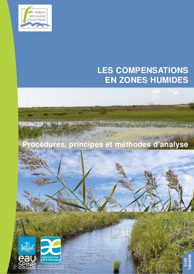 LES COMPENSATIONS  EN ZONES HUMIDES  Procédures, principes et méthodes d'analyse  MANUEL  2013