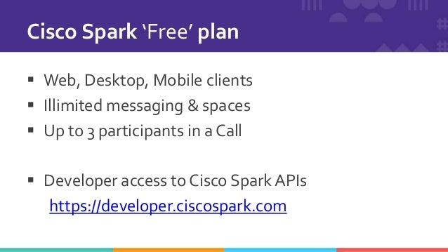 Cisco Spark for Developers API token