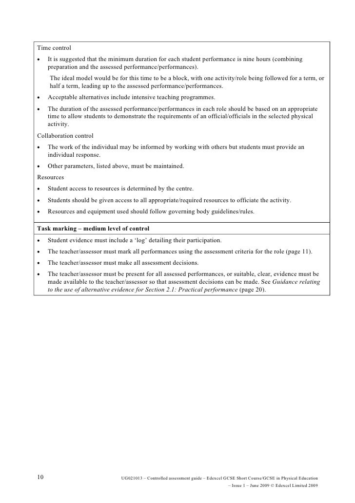 edexcel physics coursework marking grid