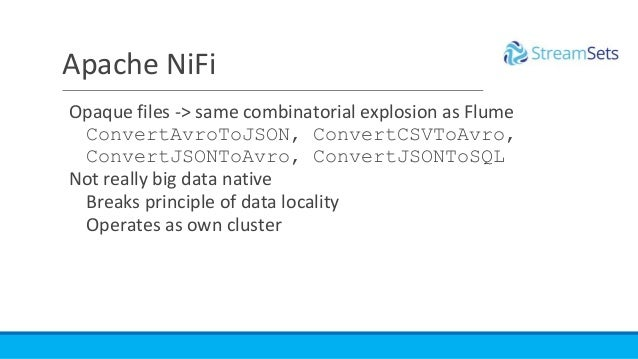 Apache NiFi Opaque files -> same combinatorial explosion as Flume ConvertAvroToJSON, ConvertCSVToAvro, ConvertJSONToAvro, ...