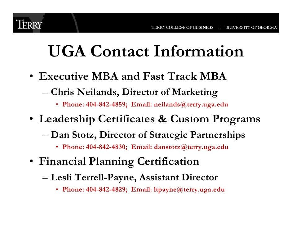 UGA Terry College of Business, Executive Programs