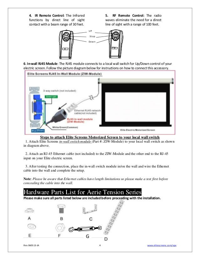 ug elite aerietension projection screen 4 638 elite screens wiring diagram wiring wiring diagram instructions Projector Wiring Setup at mifinder.co