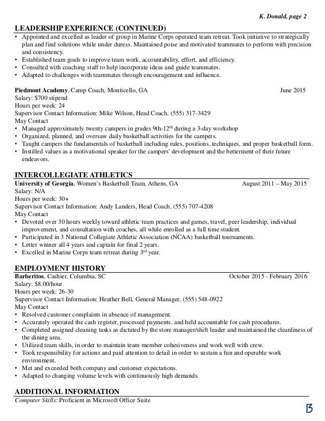 UGA Federal Resume Guide