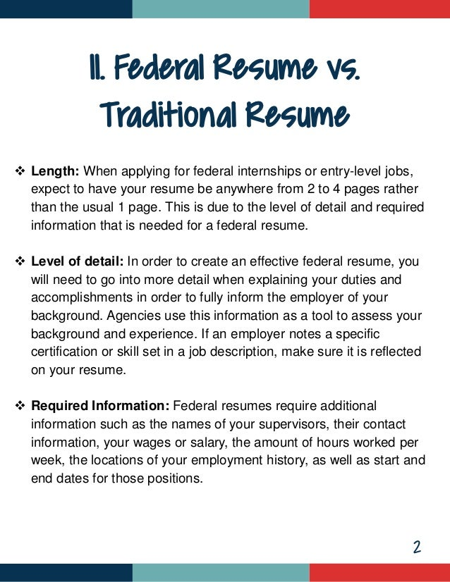 how to write an entry level federal resume