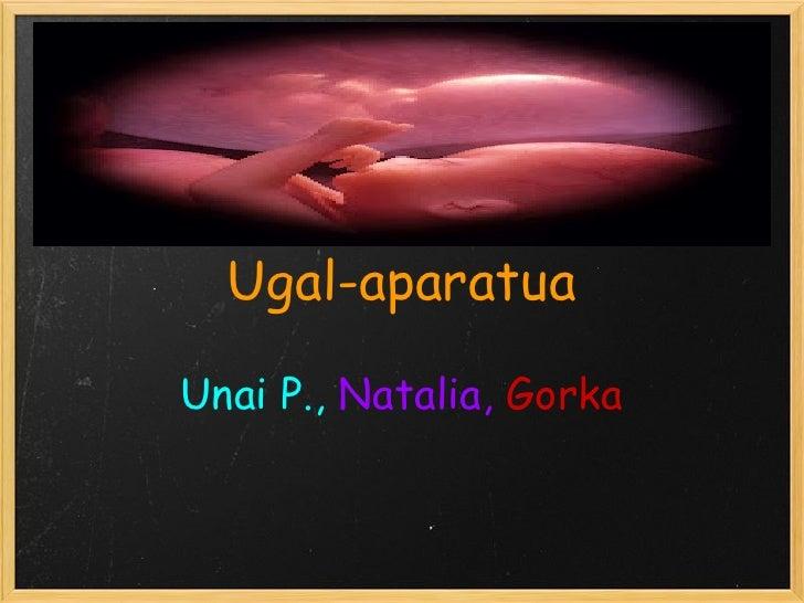 Ugal-aparatuaUnai P., Natalia, Gorka