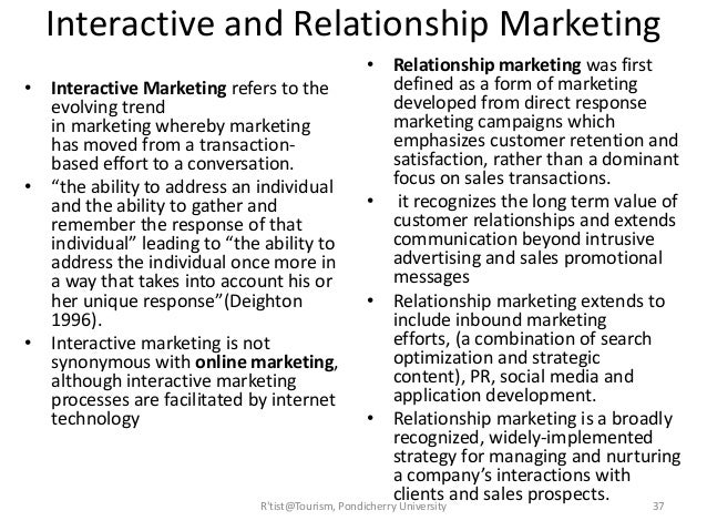 perceptions of visitor relationship marketing opportunities Relationships between the variables of the attraction visiting process  products, improve the quality of their services and develop marketing strategies for visitor  aim 3: to investigate how attractions are perceived by visitors and identify the.