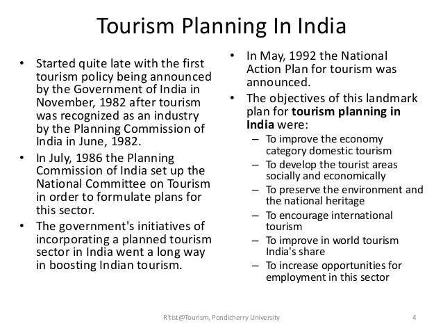 national tourism policy of india Incredible india tourism with its possible role of a significant economic multiplier  becomes  the government has undertaken various initiatives through policy.