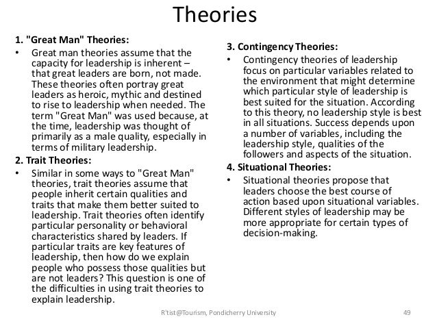 great man theory pros and cons
