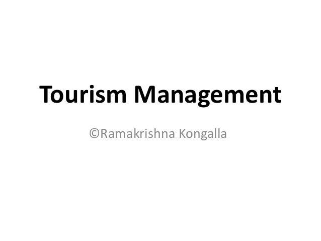 Tourism Management©Ramakrishna Kongalla
