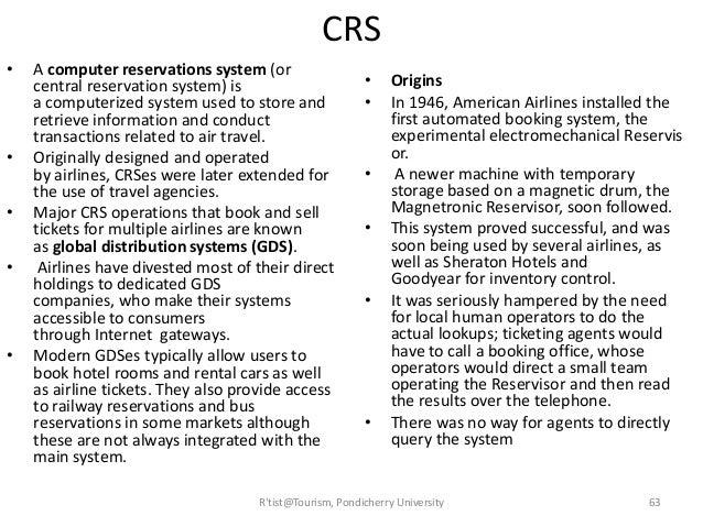 explain tourism system