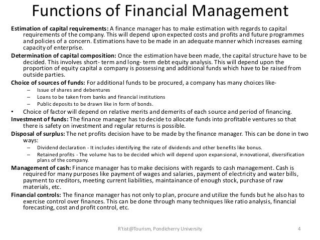 Tourism Finance Management