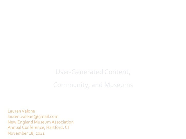 New Modes of Interaction                                User-‐Generated Content,                           ...