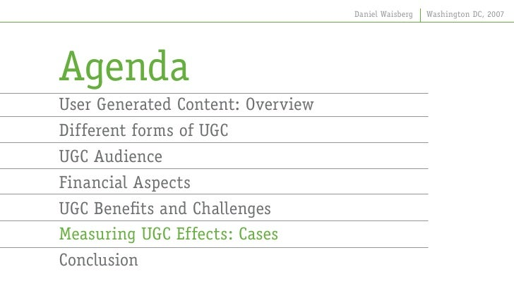 the effects of user generated content on User-generated content (ugc) is the words and photos that unpaid contributors create and provide to publications, particularly web properties.