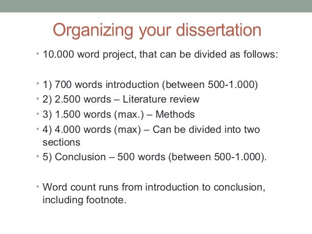 Masters Dissertation word count